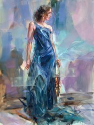 Anticipation III by Anna Razumovskaya -  sized 30x40 inches. Available from Whitewall Galleries